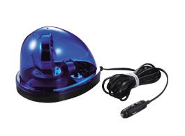 青色回転灯(強力マグネット吸着式) 流線型
